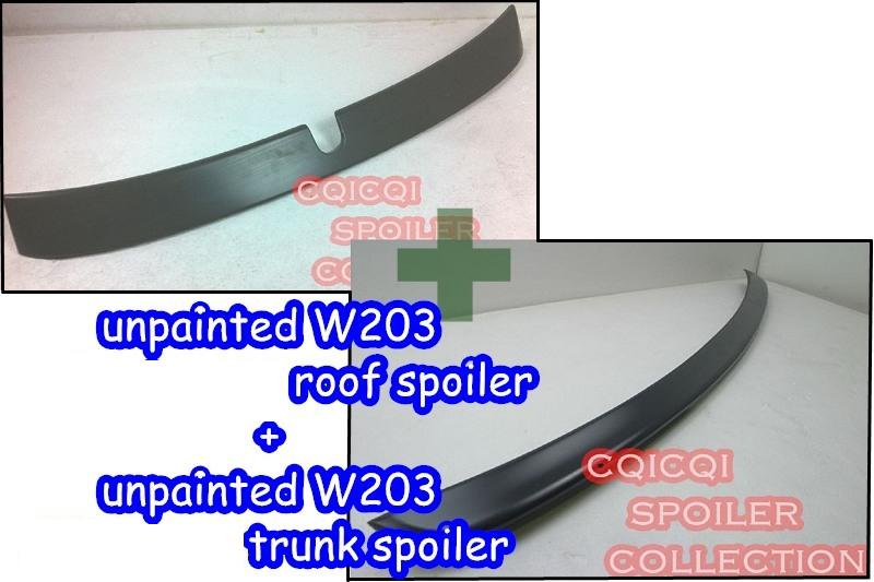 AMG type trunk spoiler ◎ Unpainted COMBO M-BENZ W203 C-class Sedan L type roof