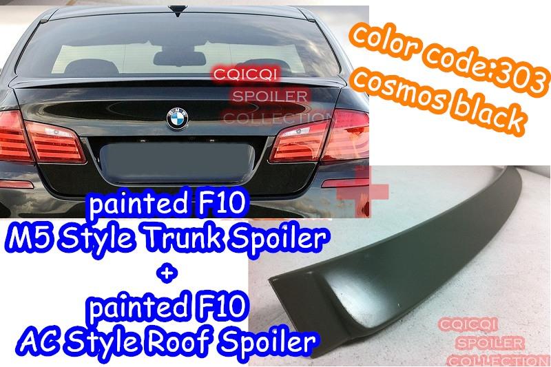 Painted BMW 11~16 F10 5-series Sedan M5 type trunk spoiler ALL COLOR ◎
