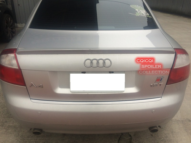 Painted Trunk Lip Spoiler For Audi 01~05 A4 S4 B6 Sedan color LY7W Silver ◎