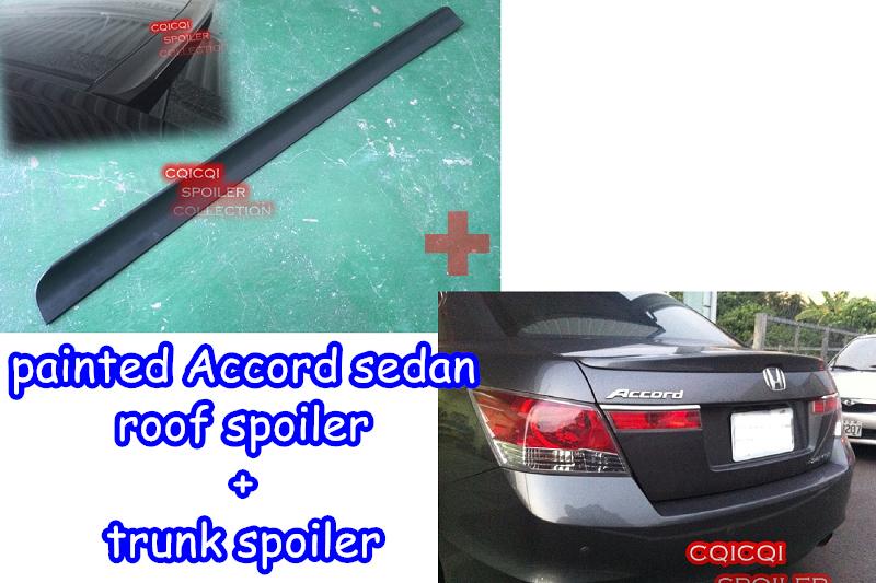 Painted SD Type Rear Roof Spoiler Wing For 2008~2012 Honda Accord 8th K13 Sedan